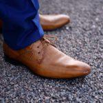 Chaussures en cuir texture bois Lya Création