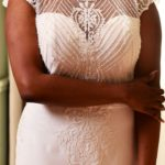 Photo robe Angun détail bustier perlé Lya Création