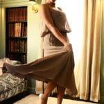 Photo robe de cocktail Spinelle mouvement Lya Création