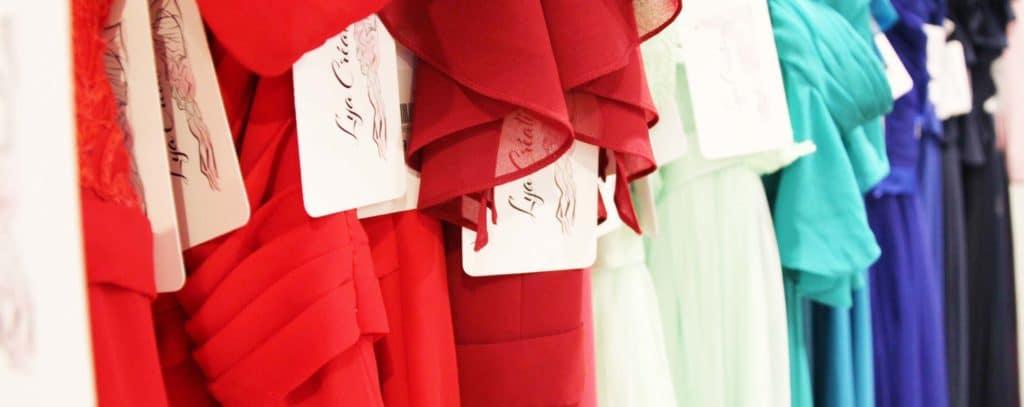 Bandeau image robes de cocktail colorées Lya Création