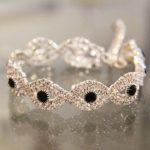 Bracelet strass bicolores Lya Création