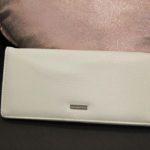 Pochette blanche texture cuir Lya Création