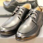 Chaussures enfants en cuir noir Lya Création