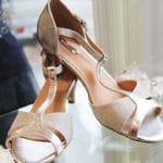 Chaussures à talon blanc métallique Lya Création
