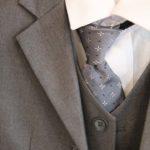 Cravate grise et bordée Lya Création