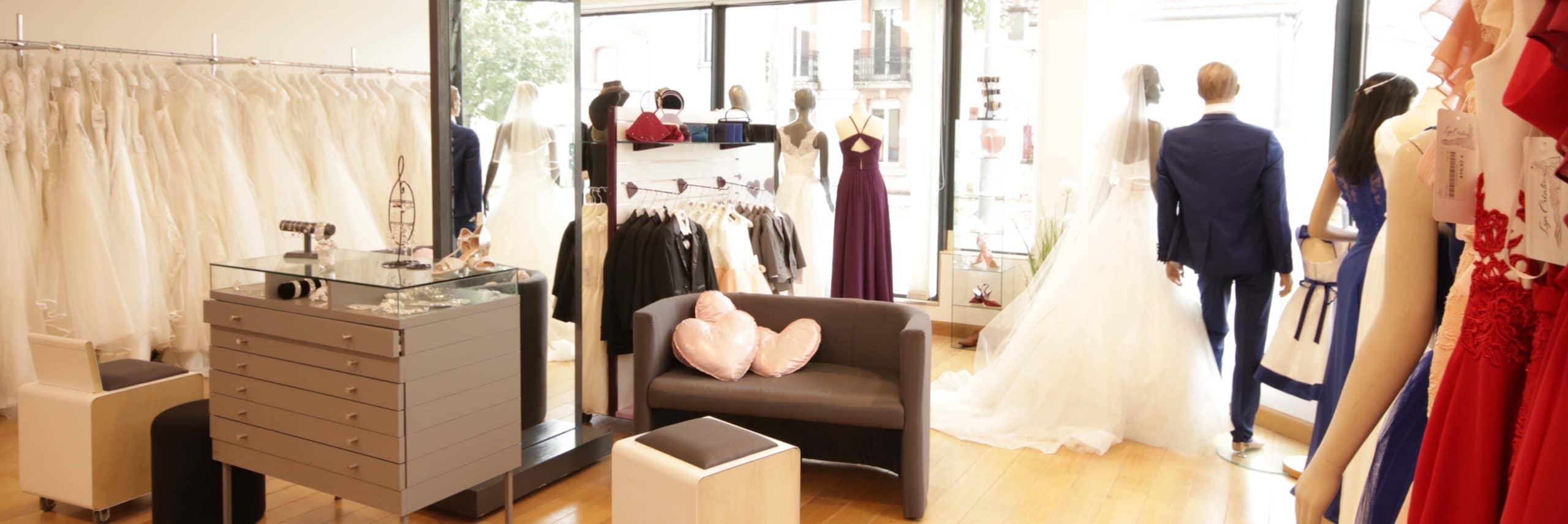 Photo de la boutique Lya Création et vitrine