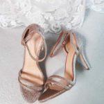 Chaussures à talon rose gold texturées Lya Création